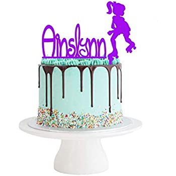 Superb Roller Skate Cake Topper Set Name Cake Topper Rollerskating Funny Birthday Cards Online Inifofree Goldxyz
