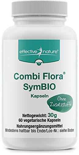 effective nature Combi Flora SymBIO, natürliche Unterstützung & Aufbau der Darmflora mit 4 Mrd. Darmbakterien, mit Bio-Inulin, perfekt bei Darmkur, Darmreinigung & Darmsanierung, vegan, 60 Kapseln