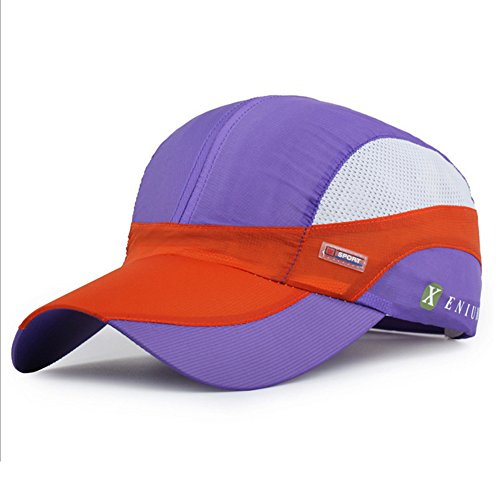 Hualing Hommes et Femmes Summer Outdoor Sunscreen Casquette de baseball Spell Color Hat Sport Casquette net respirant couleur cr¨¨me