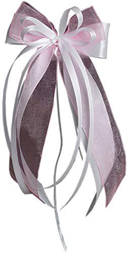 Antennenschleifen | Autoschmuck weiß, rosa