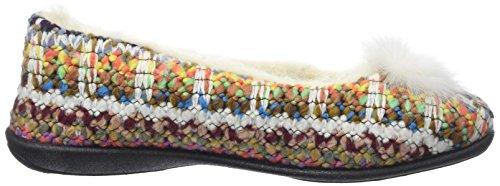 Rondinaud Damen Angey Niedrige Hausschuhe Multicolore (Multicolore)