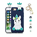 Kawaii-Shop Coque iPhone 5 5S Se TPU Silicone Souple 3D Cute Licorne Animal Jouet...