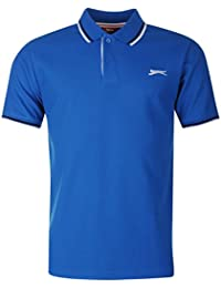 Slazenger Polo pour homme avec pointe Royal top T-shirt Tee
