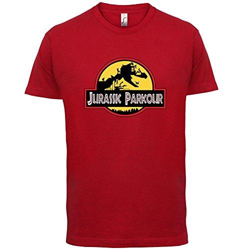 Jurassic Parkour - Herren T-Shirt - 13 Farben Rot