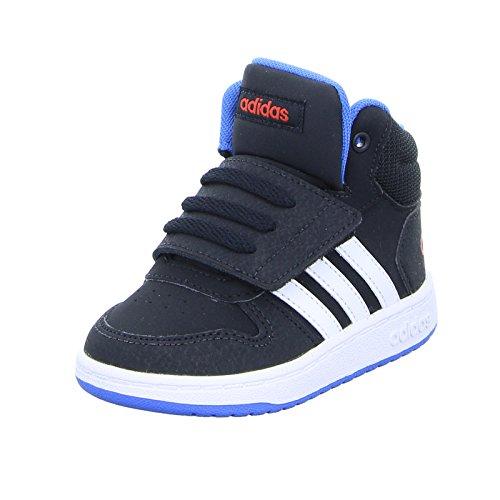 adidas Unisex Baby Vs Hoops Mid 2.0 Gymnastikschuhe, Schwarz (Core Black/Ftwr White/Bright Blue), 22 EU Jungen Schuhe Adidas Basketball