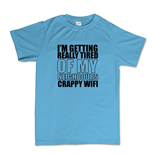 Crappy Wifi Funny T-Shirt Hellblau