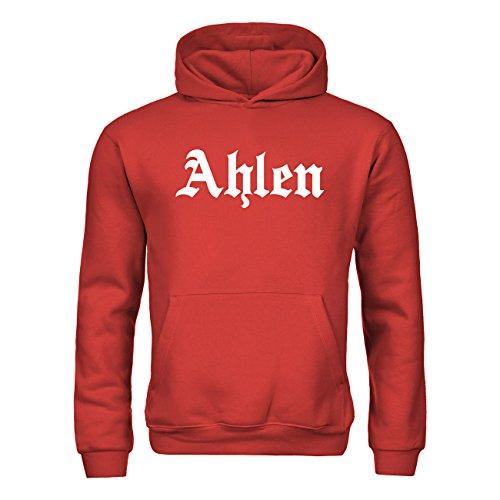 dress-puntos Kinder Kapuzensweatshirt Ahlen Schriftzug 20drpt15-kh00961-170 Textil red / Motiv weiss Gr. 152/164