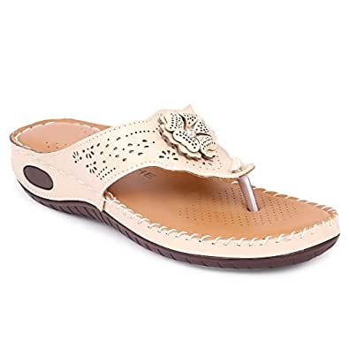 YAHE Women's Casual Doctor Sole Orthopaedic Comfortable Slippers Y-2002