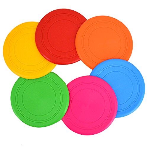 Milya 6PCS Frisbee Scheibe für Hunde, Hundespielzeug Silikon Bissfest Frisbee, Hundetraining Spielzeug für Haustier -