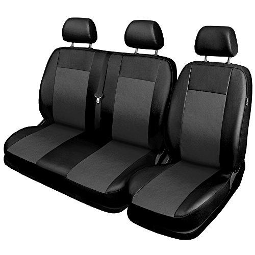 1 + 2 housses de siège de voiture gsmarkt - Cuir synthétique - Housse de protection pour sièges avant