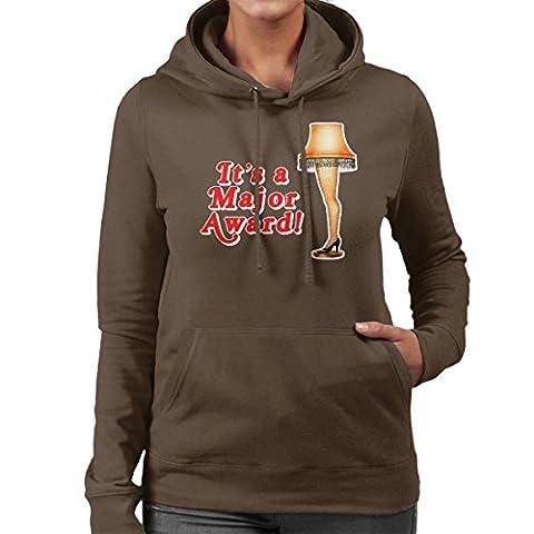Its A Major Award Christmas Lamp Women's Hooded Sweatshirt