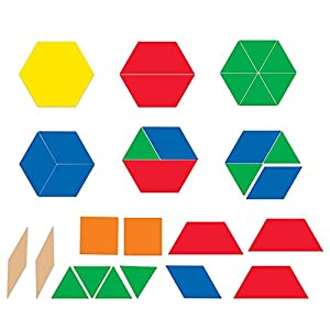 Learning Resources- Bloques geométricos magnéticos Gigantes, Color (LER9863)