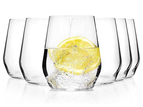 Bormioli Wasserglas Set 'Electra' 6 teilig | Gastronomiequalität | Füllmenge Trinkglas 38 cl | Höhe 10 cm | Perfekte Brillianz dank Star Glass Technologie