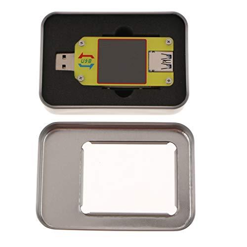 FLAMEER Mini LED USB Power Kapazität Batterie Spannungsprüfer Tester Meter Monitor Spannungsprüfer USB Digital Tester - Gelb, um34c
