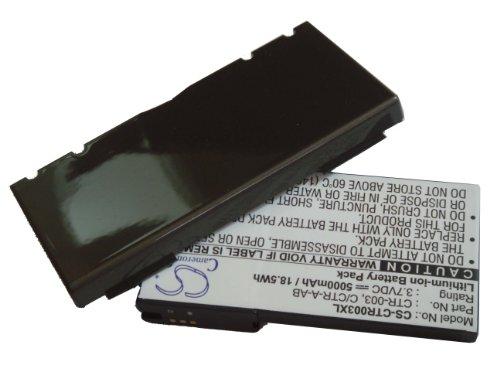 vhbw Extended Akku passend für Nintendo 3DS, N3DS, CTR-001, MIN-CTR-001 ersetzt CTR-003, C/CTR-A-AB mit Rück-Deckel - (Li-Ion, 5000mAh, 3.7V)