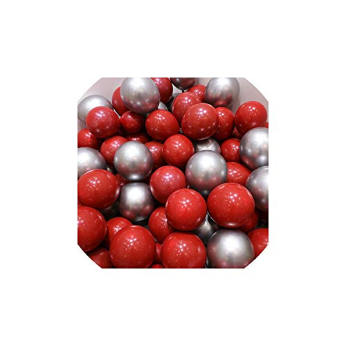 ex-Ballon Chrom Gold Silber Gold-Chrom Metallic-Wedding Brautparty-Thema-Partei Air Helium-Dekor-Luftballons, Silber ()