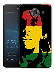 "Humor Gang Bob Marley Rasta Printed Designer Mobile Back Cover For ""Nokia Lumia 950"" By Humor Gang (3D, Matte Finish, Premium Quality, Protective Snap On Slim Hard Phone Case, Multi Color)"