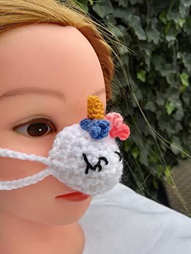 Einhorn Nasenwärmer, nasenmasker, Carnaval-Nase nose warmer gehäkelt