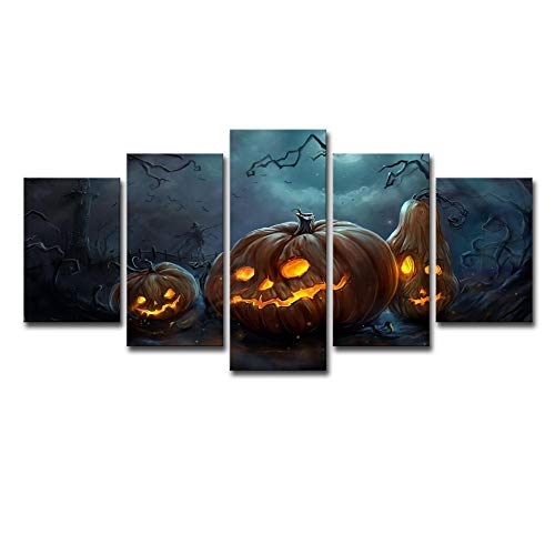 mer Wohnzimmer Eingang Wand Hintergrunddekoration Malerei 5 Stück Halloween Kürbis Lampe Wand Aufkleber ()