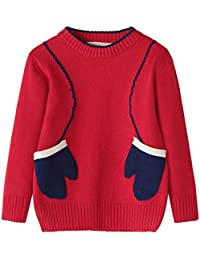 Pochers Kinder Baby Mädchen Jungen Nette Gestrickte Pullover Geometrie Nähen Warme Tops Outfit Kleidung