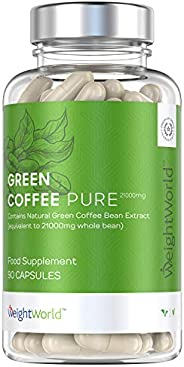 WeightWorld Green Coffee Puro 7000mg - Dimagrante Forte A Base di Caffè Verde - Brucia Grassi Formula Extra Co