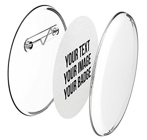 Buttons 56mm selber machen ohne Buttonmaschine (10 Stück) – Ansteckbuttons Set mit Nadel-Pins und A4-Buttonpapier (Kinder-foto-drucker)