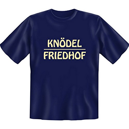 Witziges Fun-shirt - Tshirt als Geschenk mit Minishirt - Navy Blau - Knödel Friedhof Navy-Blau