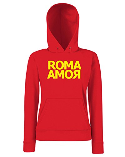 T-Shirtshock - Sweats a capuche Femme TSTEM0242 roma amor red Rouge