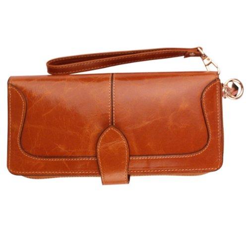 gogou-genuine-leather-ladies-wallets-vintage-wristlet-handbags-brown