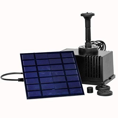 FORIN Solar Pumpe 1,5 W Springenbrunnen Für Garten Teich Solarbrunnen Wasserpumpe 180L / h