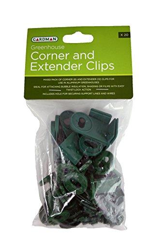 Rinconeras de invernaderos y clips extensores (20)