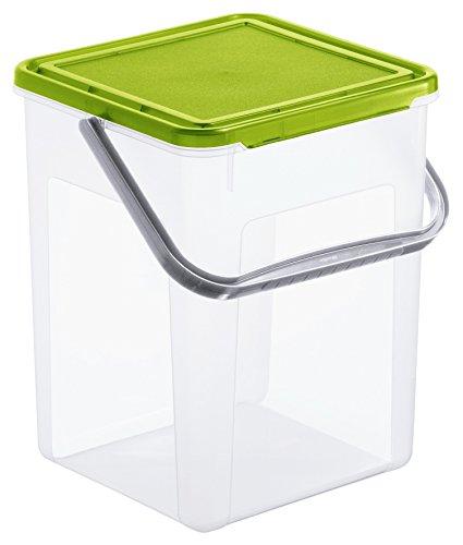 Rotho 1770190000per bucato contenitore 5kg, 9L, plastica, verde, 23x 22,5x 27.5cm