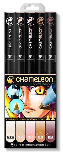 Chameleon Marker Set Hauttöne mit 5 Stiften