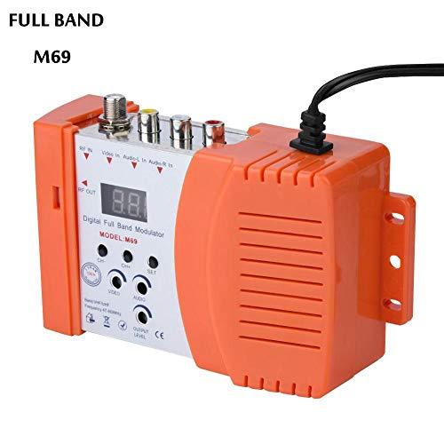 VBESTLIFE Universal Compact HF Modulator, VHF/UHF Digitaler AV to RF Modulator Audio Video TV Konverter Signalkonverter(EU)