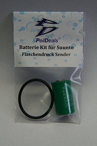 PeilDeals Batterie-Set/Kit für Flaschendruck Sender/Transmitter/Drucksender von Suunto D6i D4i D9tx D9 Vyper Air Helo2 Sender Kit