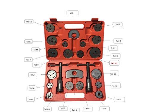 KFZTEILESCHNELLVERSAND24 22 tlg Bremskolbenrücksteller Satz Bremskolben Rücksteller KFZ Werkzeug