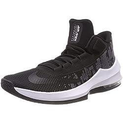 Nike Air Max Infuriate 2 Mid Aa7066-001, Baskets Hautes Homme, Noir Black-White-Anthracite 001, 45 EU