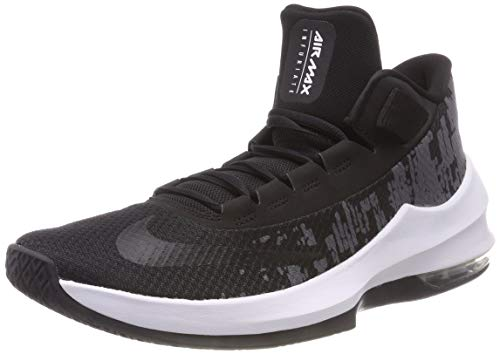 Nike Herren Air Max Infuriate 2 Basketballschuhe, Mehrfarbig (Black/White/Anthracite 001), 45 EU
