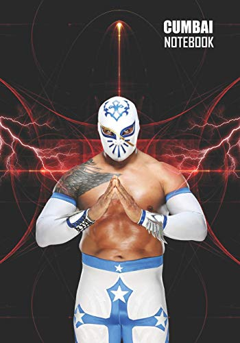 Notebook: Sin Cara Medium College Ruled Notebook 129 pages Lined 7 x 10 in (17.78 x 25.4 cm)