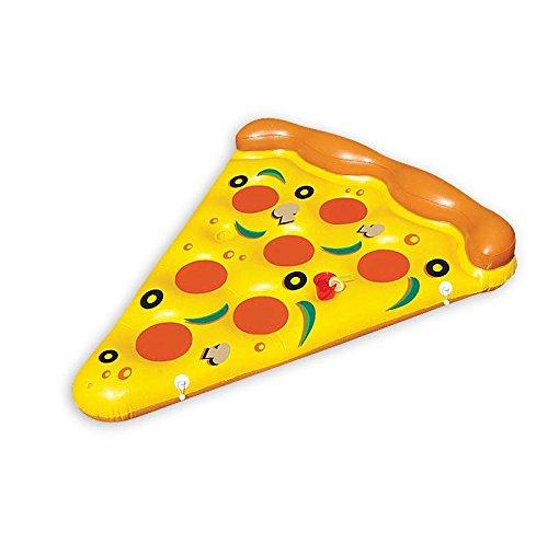Schwimminsel Pizzastück / Luftmatratze Pizza-Slice / Wasserspielzeug / Badespeilzeug