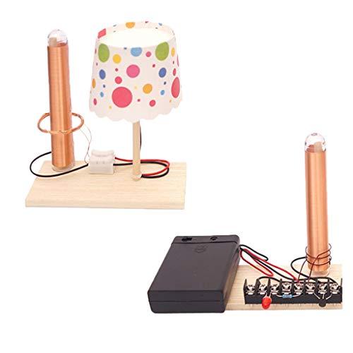 B Blesiya Komplette DIY Balsten Experimente Wissenschaft Pädagogische Spielzeug - Wireless Strom Generator Lampe