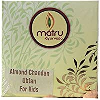 Matru Ayurveda Almond Chandan Ubtan Bath Powder Sunni Pindi/Utane/Utna For Kids, 90 gm