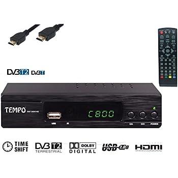 Tempo TNT 3000 Démodulateur DVB-T2 récepteur terrestre HD Compatible MPEG-4