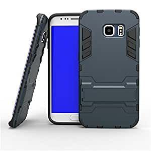 Prosper 3 In 1 TPU+PC Stand Armor Cover Case for Samsung S6 Edge Plus (Black)