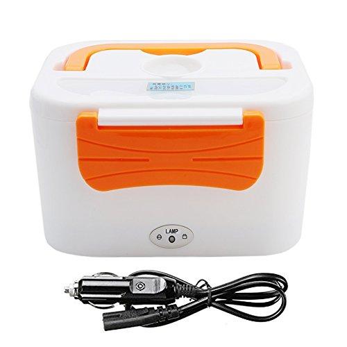 goodchanceuk 12V coche uso calefacción eléctrica caja de almuerzo Bento portátil calentador calentador de alimentos naranja