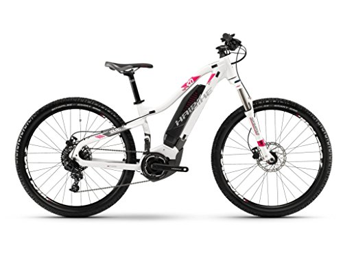 Haibike Sduro hardlife 2.0Yamaha Bicicleta Eléctrica 2018, Color Weiß/Titan/Pink, Tamaño RH 47 cm/27,5 Zoll, Tamaño de Rueda 27.50