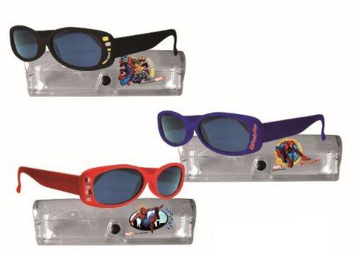 Spiderman - Gafas de sol infantiles con funda, 1 unidad, surtido, color...