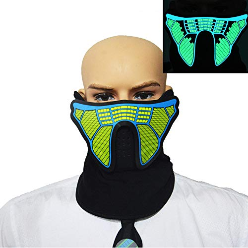 Price comparison product image WDDT Halloween LED Mask Cold Light EL Music Sound Control Luminous Mask Light Up Bar Party Supplies