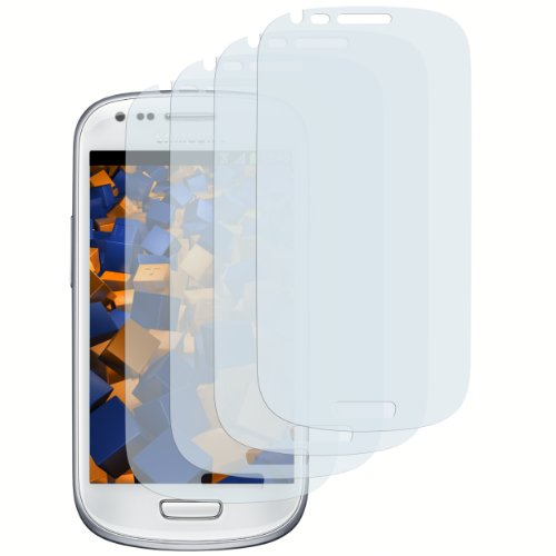 mumbi Schutzfolie kompatibel mit Samsung Galaxy S3 mini Folie klar, Bildschirmschutzfolie (4x)