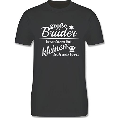 Sprüche - Große Brüder - Herren Premium T-Shirt Dunkelgrau